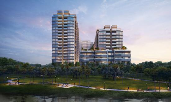 Không gian xanh mát tại dự án The River Thủ Thiêm